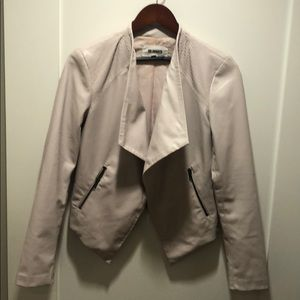 BB Dakota Slate Jacket in Blush - faux leather